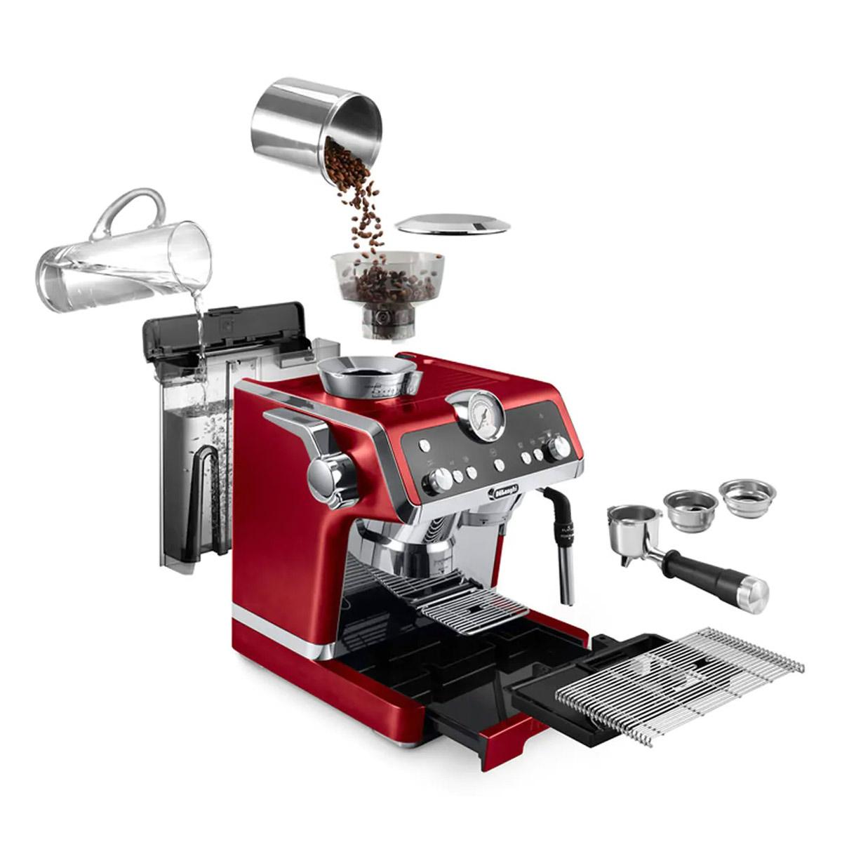 DeLonghi La Specialista Semi-Automatic Espresso Machine with Built-in Grinder Red - EC9335R