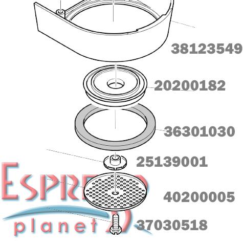 Rancilio Silvia Brew Group Head Cover 38123549