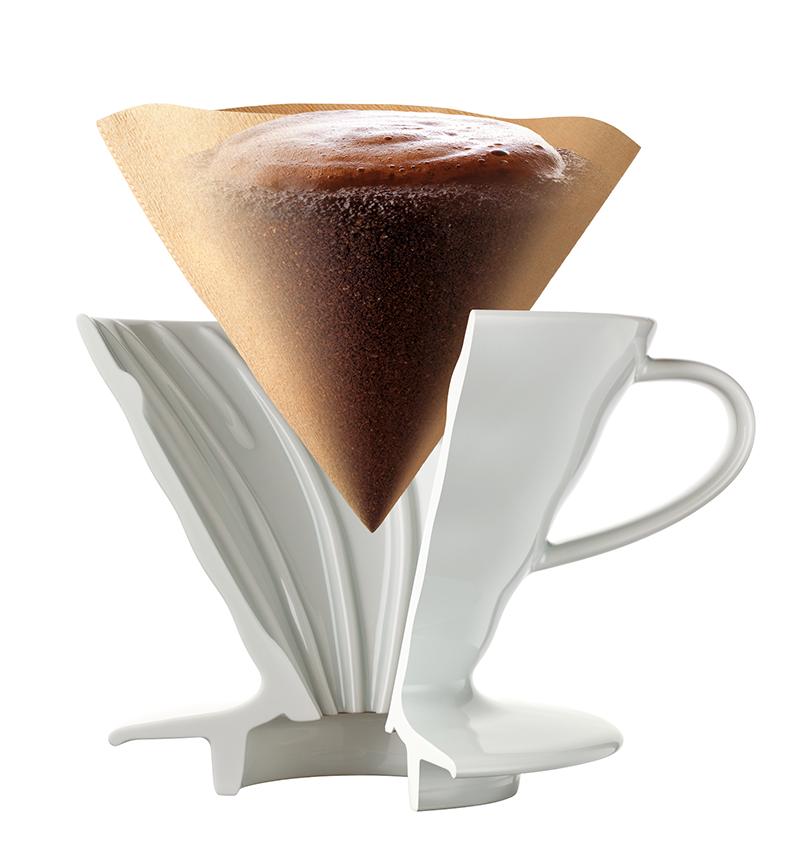 Hario V60 Coffee Dripper White Ceramic 02 # VDC-02W