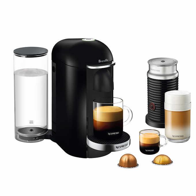 Breville Nespresso VERTUOPLUS DELUXE with Aeroccino 3 Bundle BLACK BNV450BLK1BUC1
