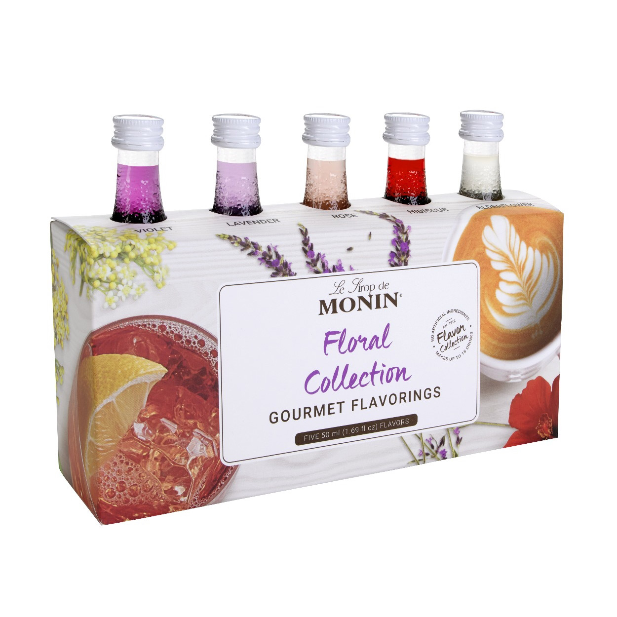 Monin Floral Collection - 5 x 50ml Pack