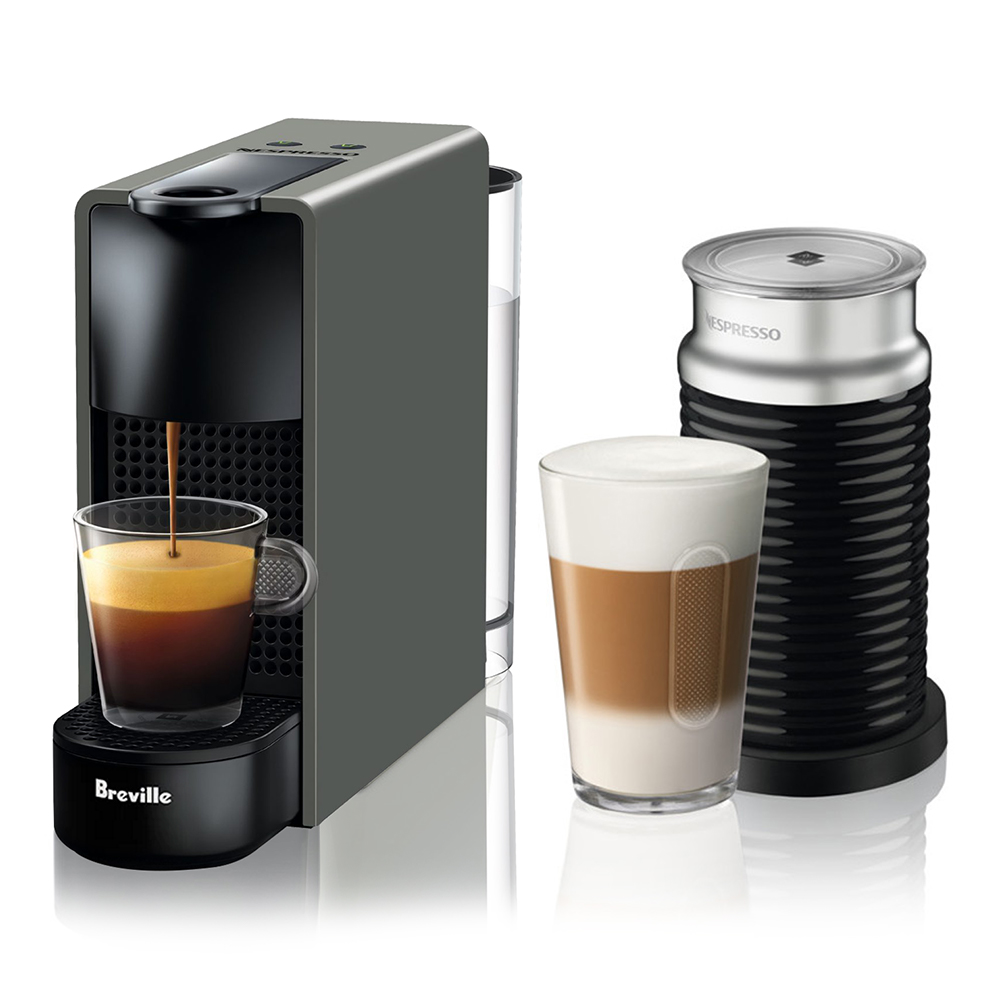 Breville Nespresso Essenza Mini Grey With Aeroccino Single