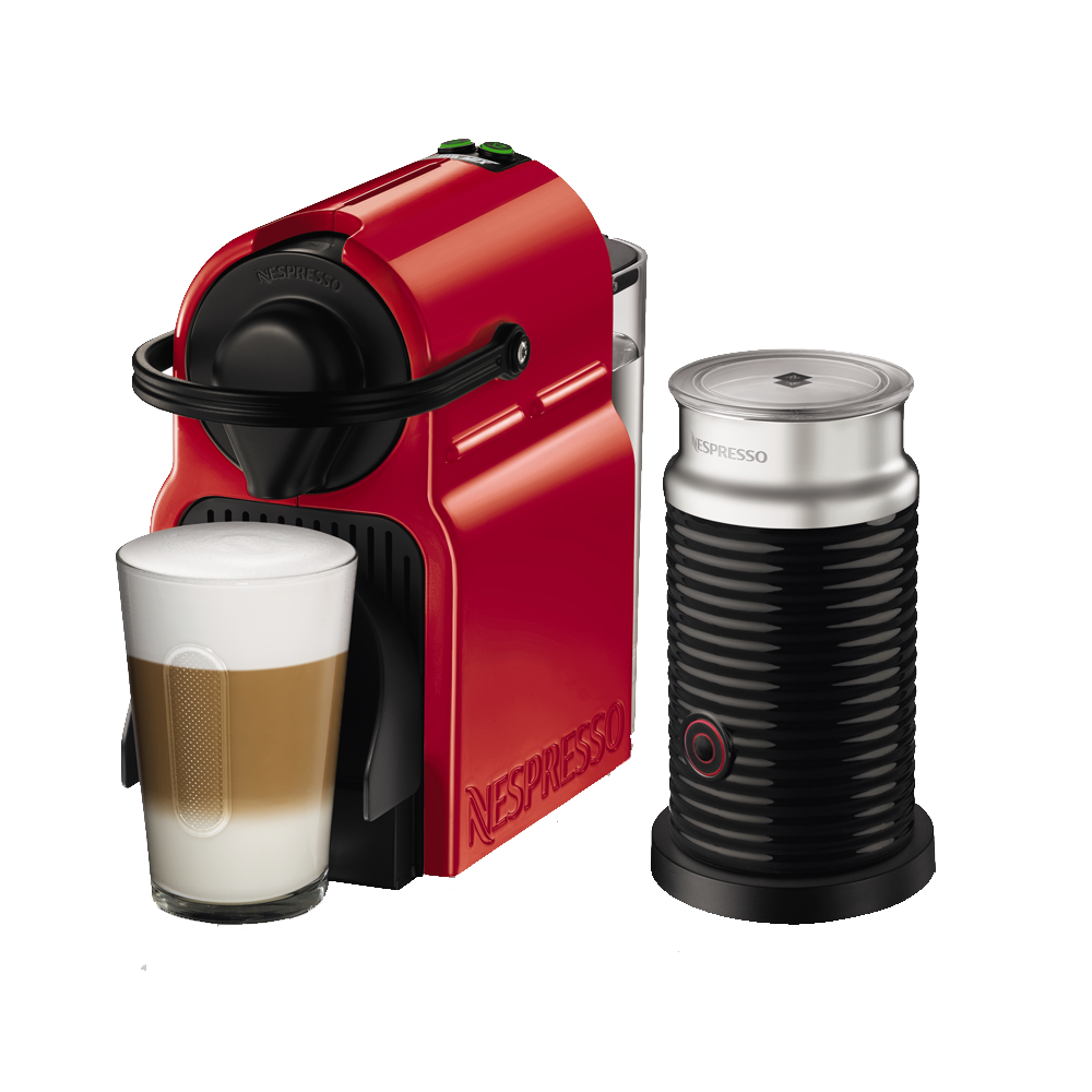Breville Nespresso Inissia RED Single Serve Espresso Machine with Aeroccino 3 BEC150REDD1AUC1