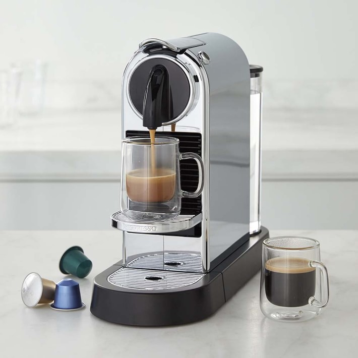 delonghi nespresso citiz chrome single serve espresso. Black Bedroom Furniture Sets. Home Design Ideas