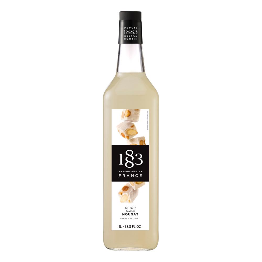 1883 French Nougat Syrup 1L Glass Bottle (EXP NOV 2019)