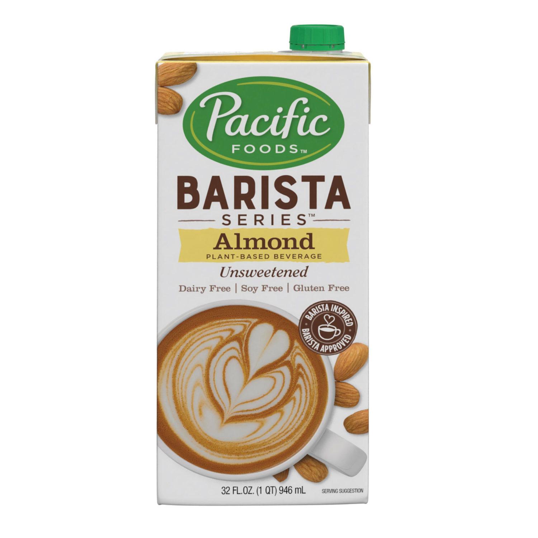 Pacific Barista Series Almond Unsweetened Milk Original Non-Dairy 32oz/946ml