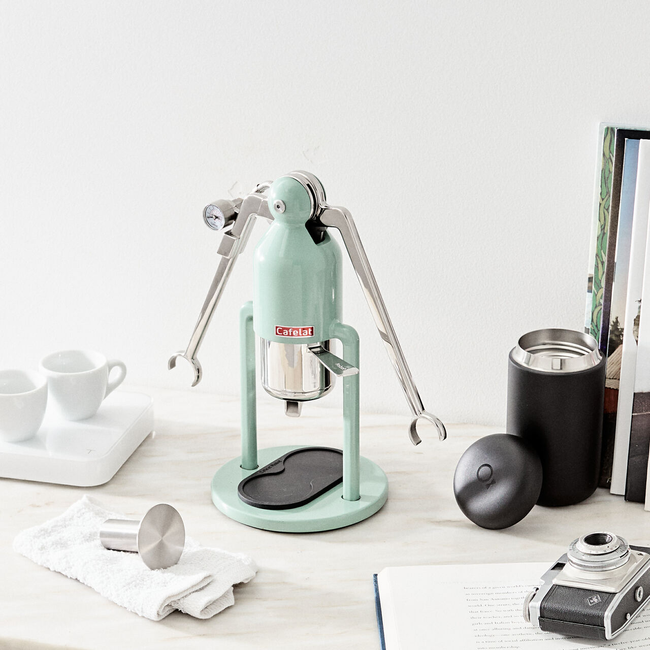 Cafelat Robot Manual Espresso Maker - Barista Version Retro Green - #304