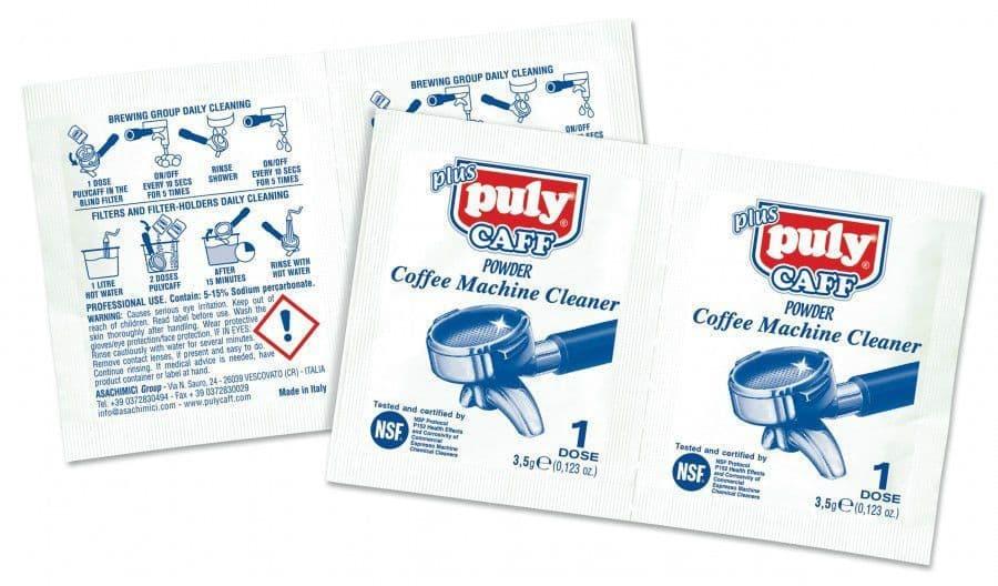 Puly Caff Espresso Machine Cleaner Powder - 3.5g Bag / Box of 40 - LEPLA9201