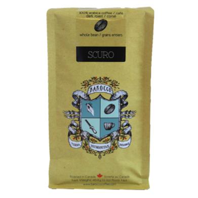 Barocco Scuro Arabica Blend Whole Bean 454g 1lb Bag