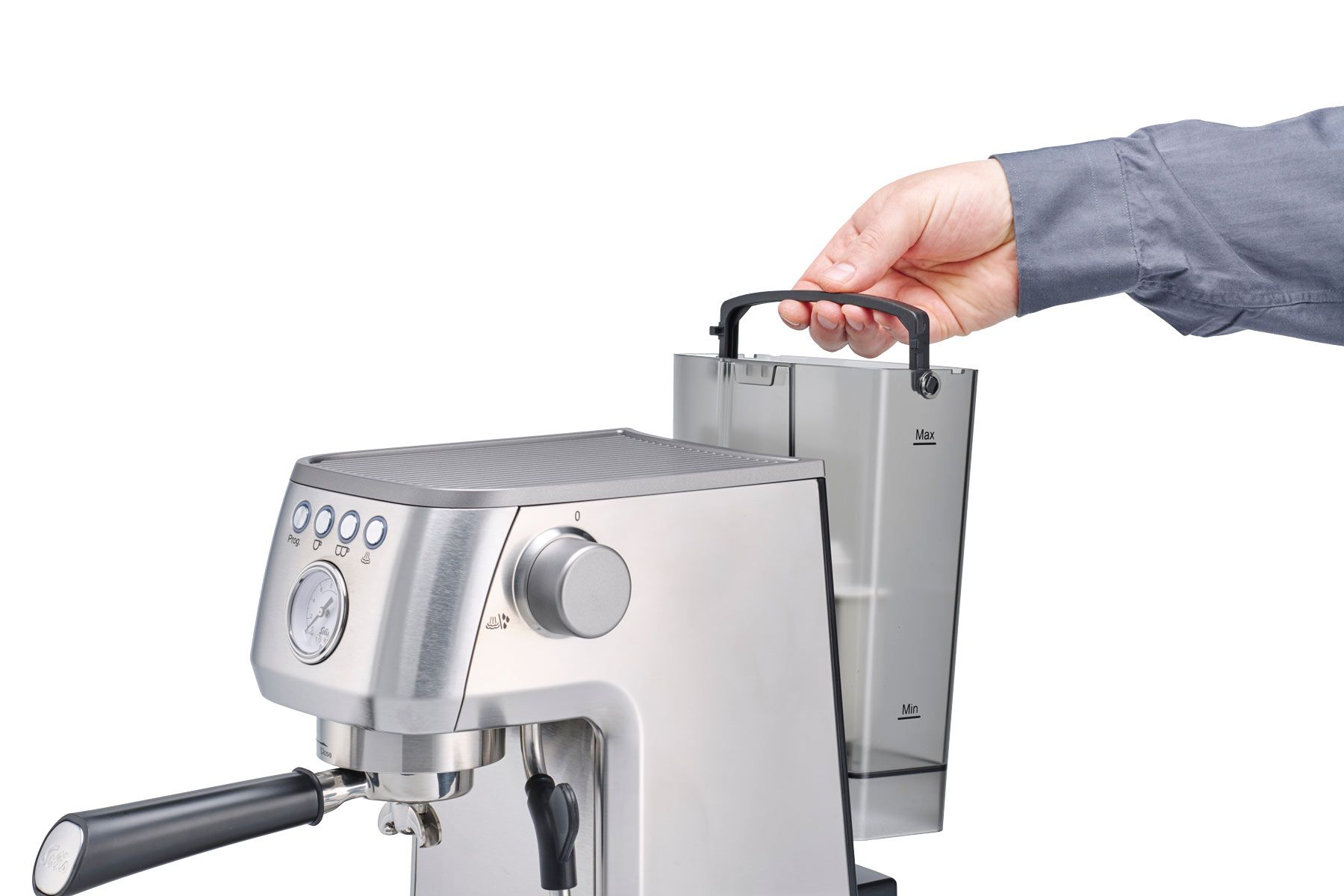 Solis Barista Perfetta Plus Semi-Automatic Espresso Machine - Silver 980.37
