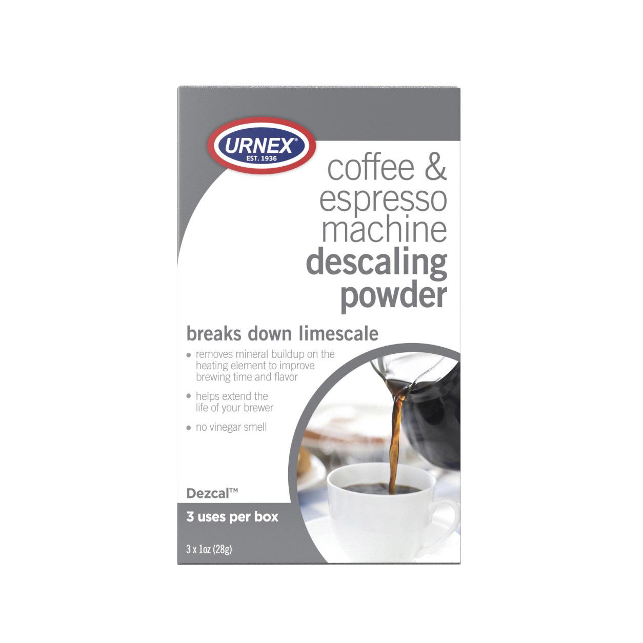 Urnex Dezcal Coffee and Espresso Machine Descaling Powder
