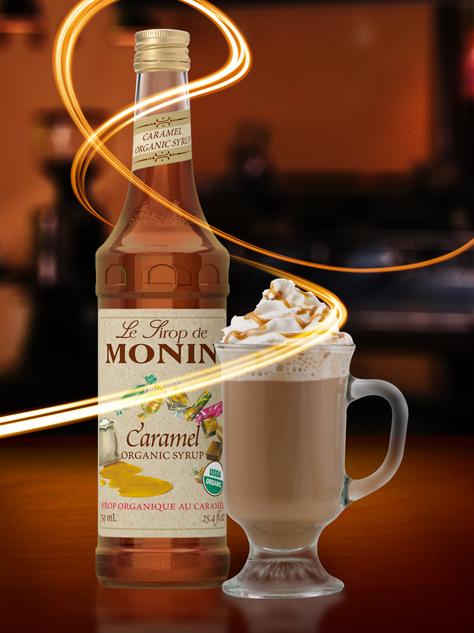 Monin Organic Caramel Syrup Espresso Planet Canada