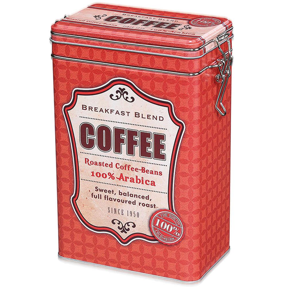 Zassenhaus Coffee Storage Tin w/Silicone Seal - Red