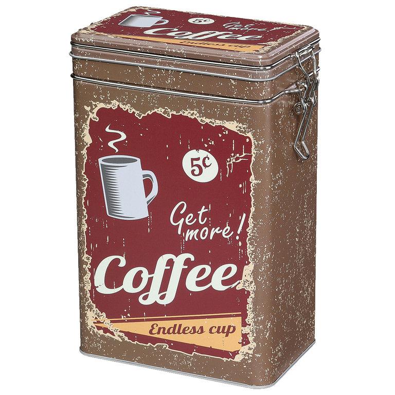 Zassenhaus Coffee Storage Tin w/Silicone Seal - Brown