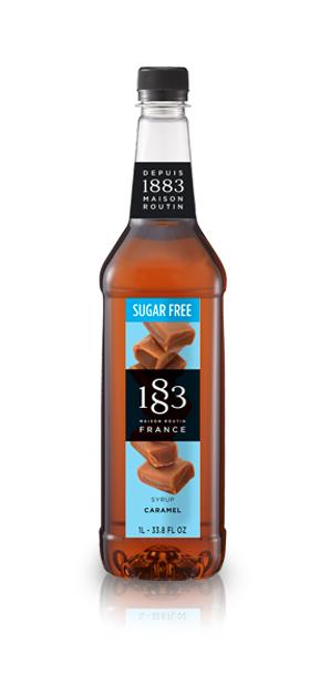 1883 Caramel Sugar Free Syrup 1L Plastic Bottle