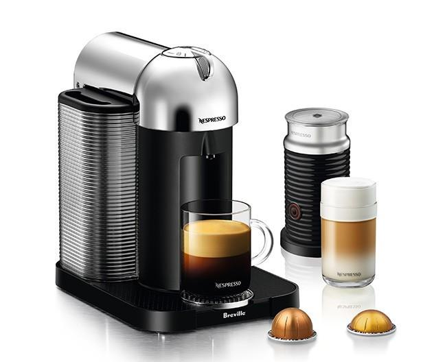 Nespresso Breville VertuoLine CHROME Bundle with Aeroccino 3