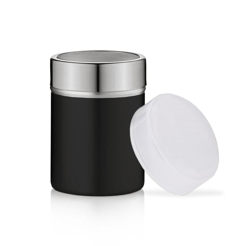 Cafe Culture Stainless Steel Shaker with Mesh Black 5oz/150ml