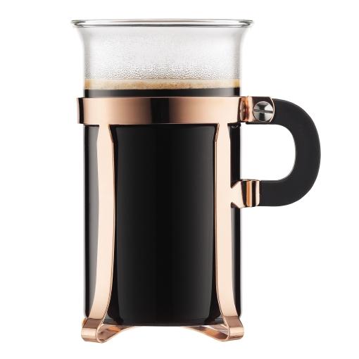 Bodum Chambord Copper Coffee Glass 10oz Set Of 2