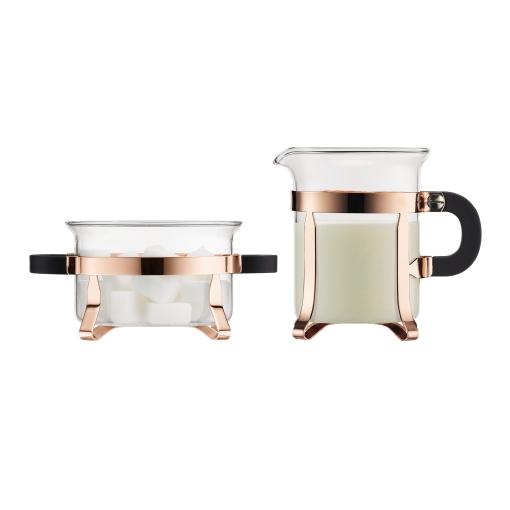 Bodum Chambord Copper Sugar and Creamer Set