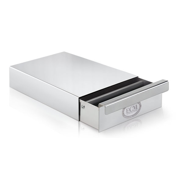 ECM Knock Box Drawer Polished Stainless Steel #89610