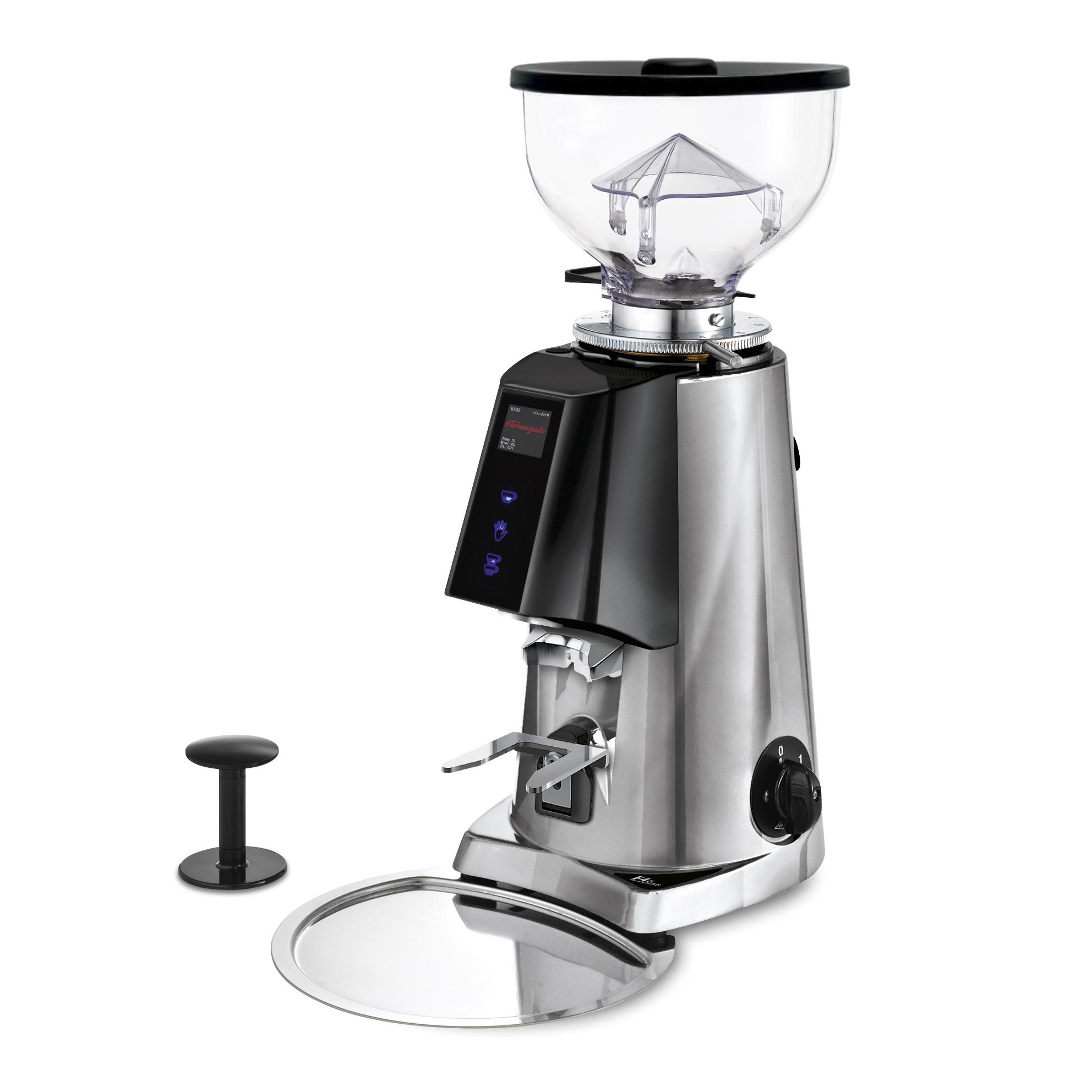 Fiorenzato F4E Nano V2 Electronic Espresso Grinder CHROME