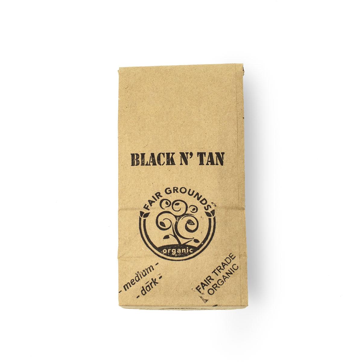 Fair Grounds Coffee Black N' Tan Fair Trade Organic 1/2lb Beans