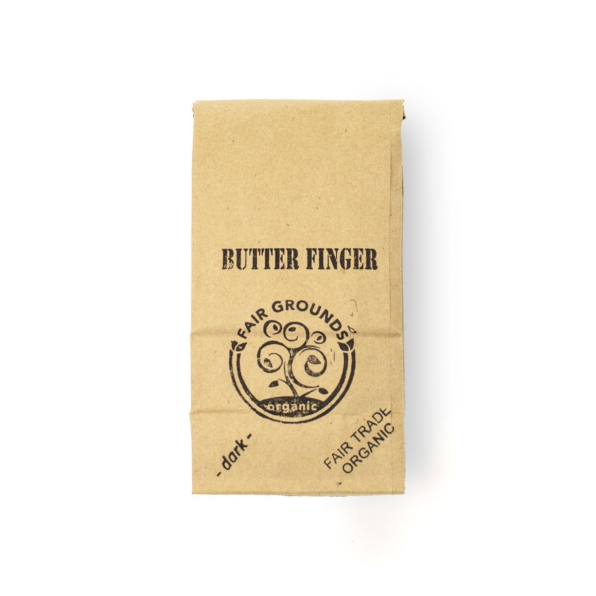 Fair Grounds Coffee Butter Finger Fair Trade Organic 1/2lb Beans