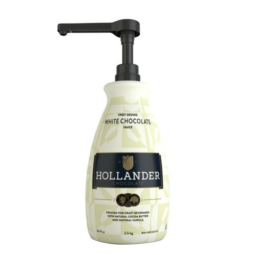 Hollander Sweet Ground White Chocolate Sauce 64oz 1.89L