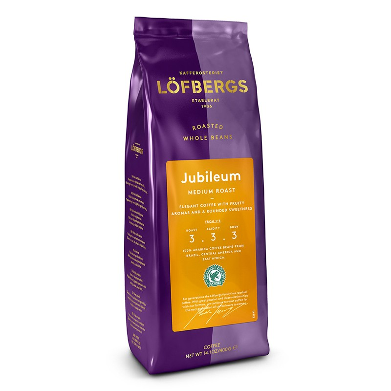 Lofbergs Jubileum Medium Roast Whole Bean 400g/14.1oz