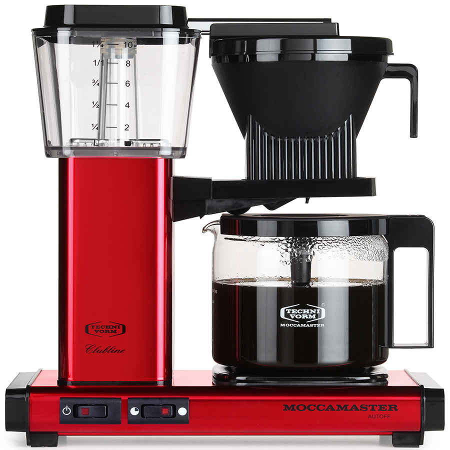 Technivorm Moccamaster KBG 741 AO Coffee Maker Glass Carafe Red 59618