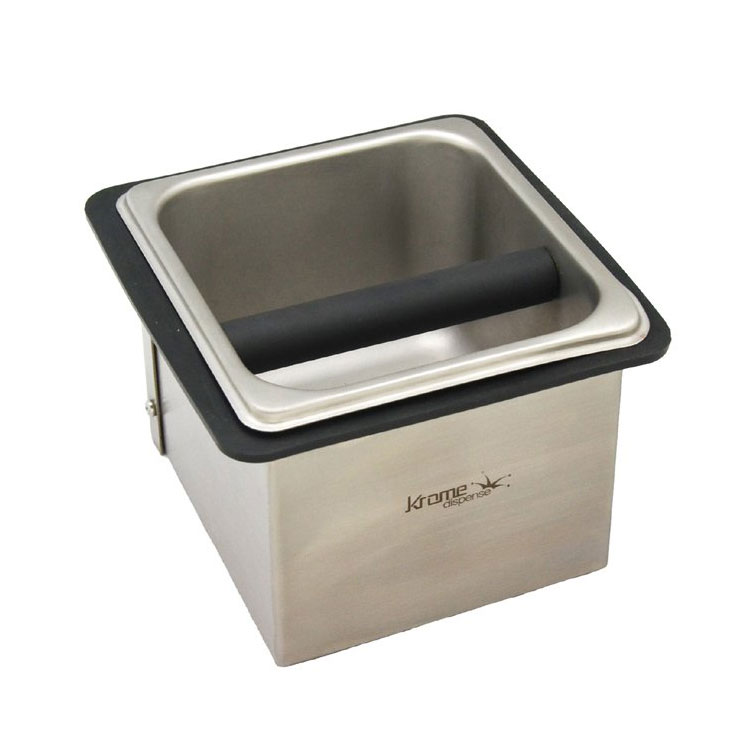 Krome Stainless Steel Counter Top Knock Box - C333