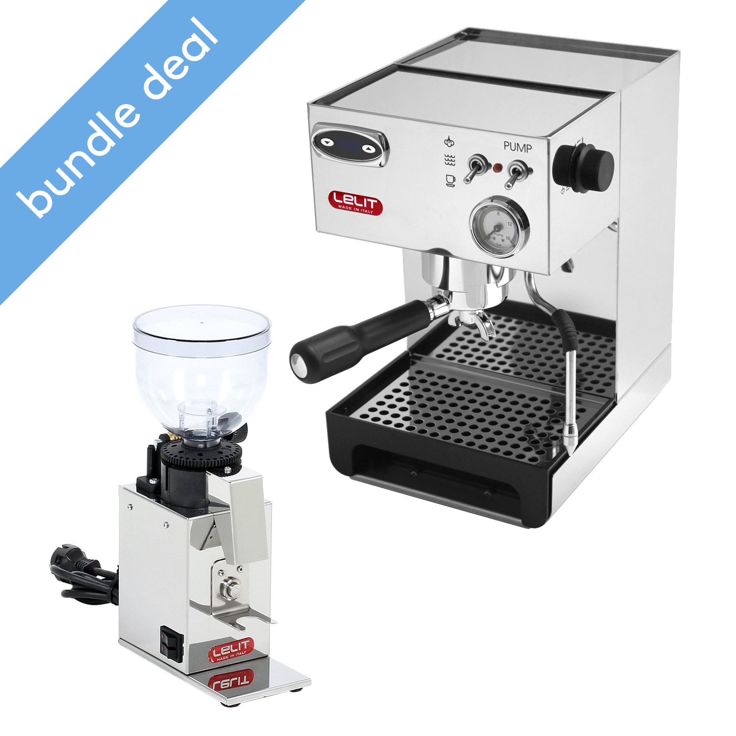 Lelit Anna 2 Espresso Machine with PID + Fred Grinder Bundle