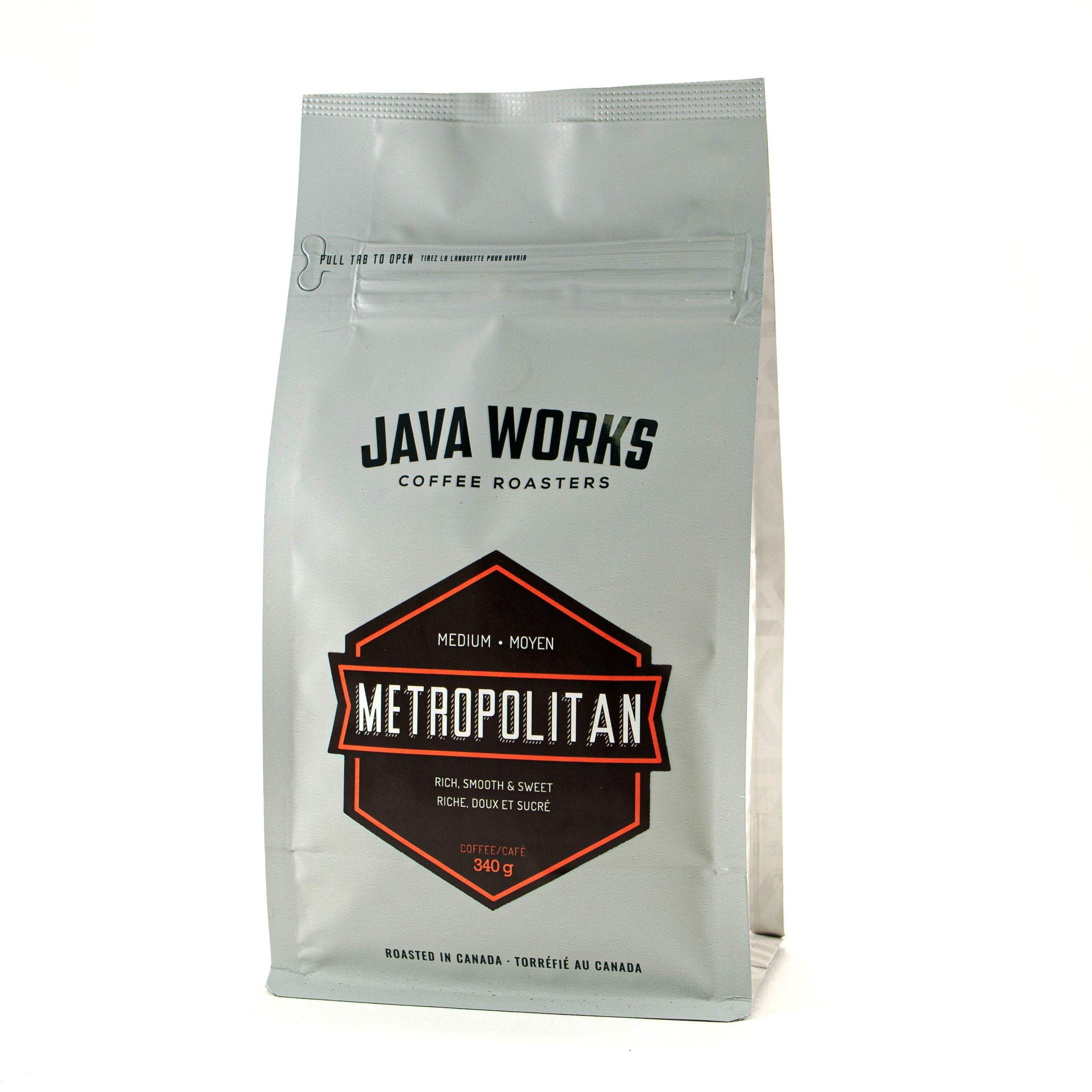Java Works Metropolitan Blend Whole Beans - 12oz / 340g Bag