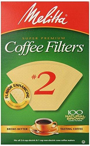 Melitta Cone Filters #2 Natural Brown 100 Pack