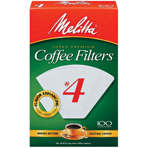 Melitta Cone Filters #4 White 100 Pack