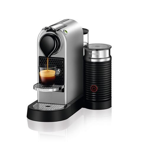 Nespresso Citiz TITAN GREY Bundle with Aeroccino Single Serve Espresso Machine C120