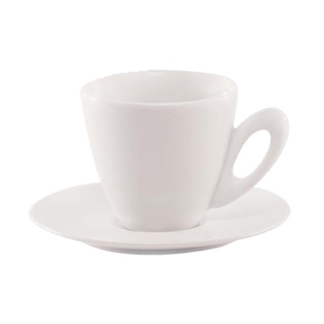 AXA White Round Espresso Cup - Set of Six