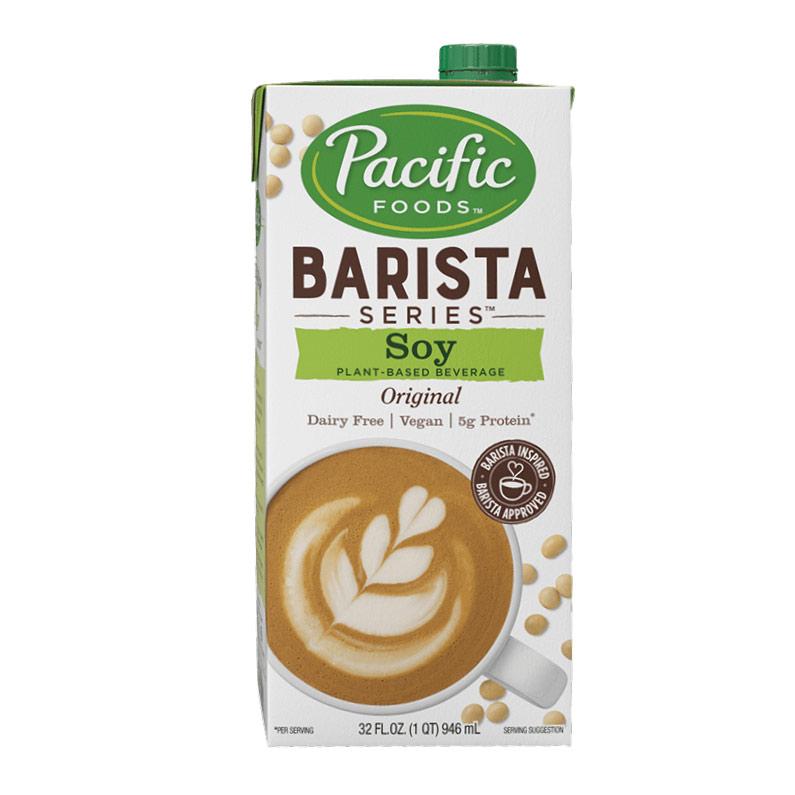 Pacific Barista Series Soy (with Non-GMO Soy) Milk Original Non-Dairy 32oz/946ml