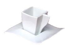 AXA White Square Espresso Cup - Set of Four