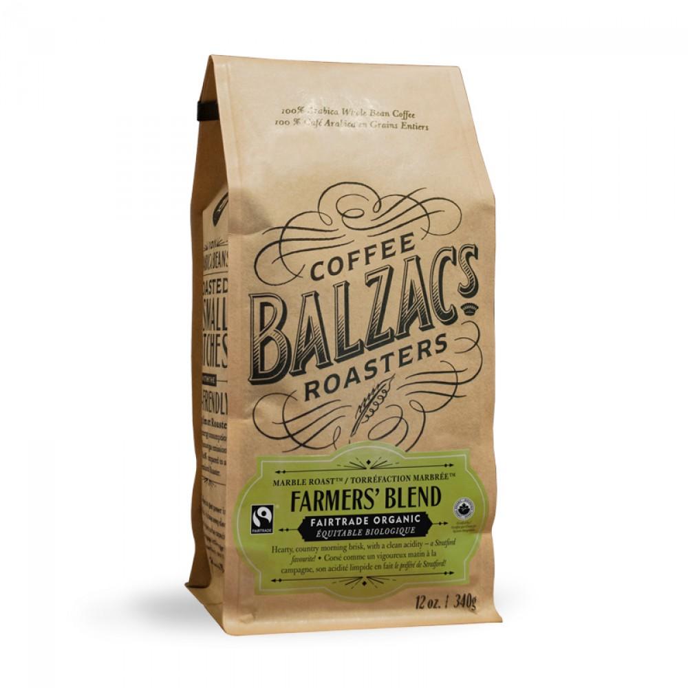 Balzac's Coffee Roasters Farmer's Blend Beans - 12 oz