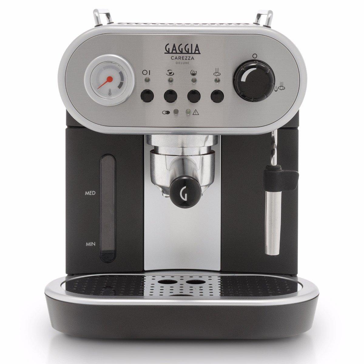 Gaggia Carezza Deluxe Semi-Automatic Espresso Machine - Silver Model No.RI8525/47