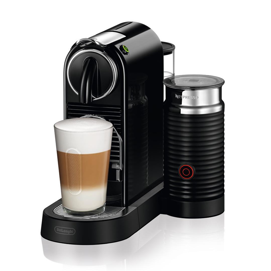 Delonghi Nespresso Citiz BLACK Single Serve Espresso Machine with Aeroccino 3 EN267BAECA