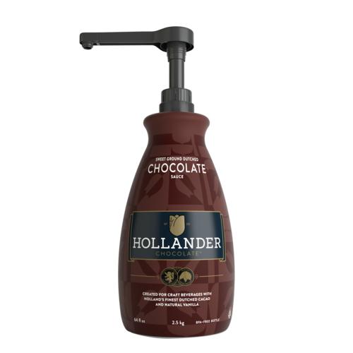 Hollander Sweet Ground Dutched Chocolate Sauce 64oz 1.89L