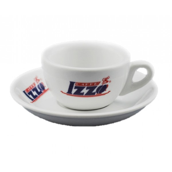 Izzo Espresso Cups - LOW - Set of 6 Cups and Saucers PU222