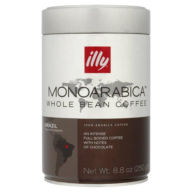 Illy Brazil Monoarabica Whole Beans 250g Tin