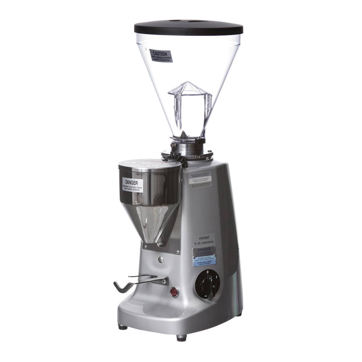 Mazzer Super Jolly E1 Doserless Espresso Grinder Silver
