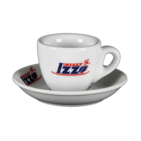 Izzo Espresso Cups - HIGH - Set of 6 Cups and Saucers PU188
