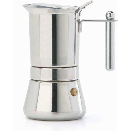 Stove Top 4 Cup Vespress M/Inox Espresso Maker Stainless Steel (Manico)