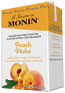 Monin Peach Real Fruit Smoothie Mix 46oz