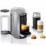 Breville Nespresso VERTUOPLUS DELUXE with Aeroccino 3 Bundle SILVER BNV450SIL1BUC1